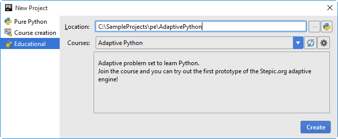 pe adaptive python