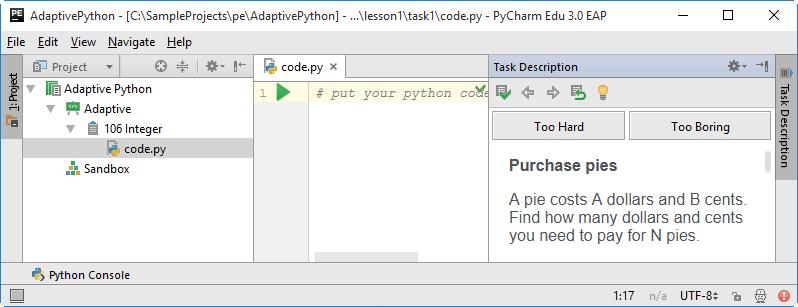 pe adaptive python 106