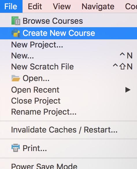 pe create course1
