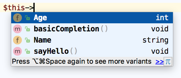 Basic Code Completion