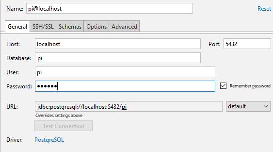 py create postrgesql database general settings
