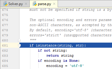 py debugging step into
