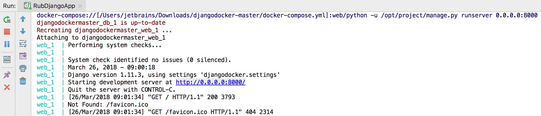 py docker compose run