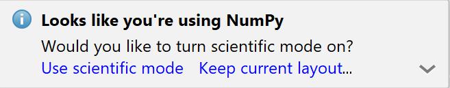 py enable scientific view