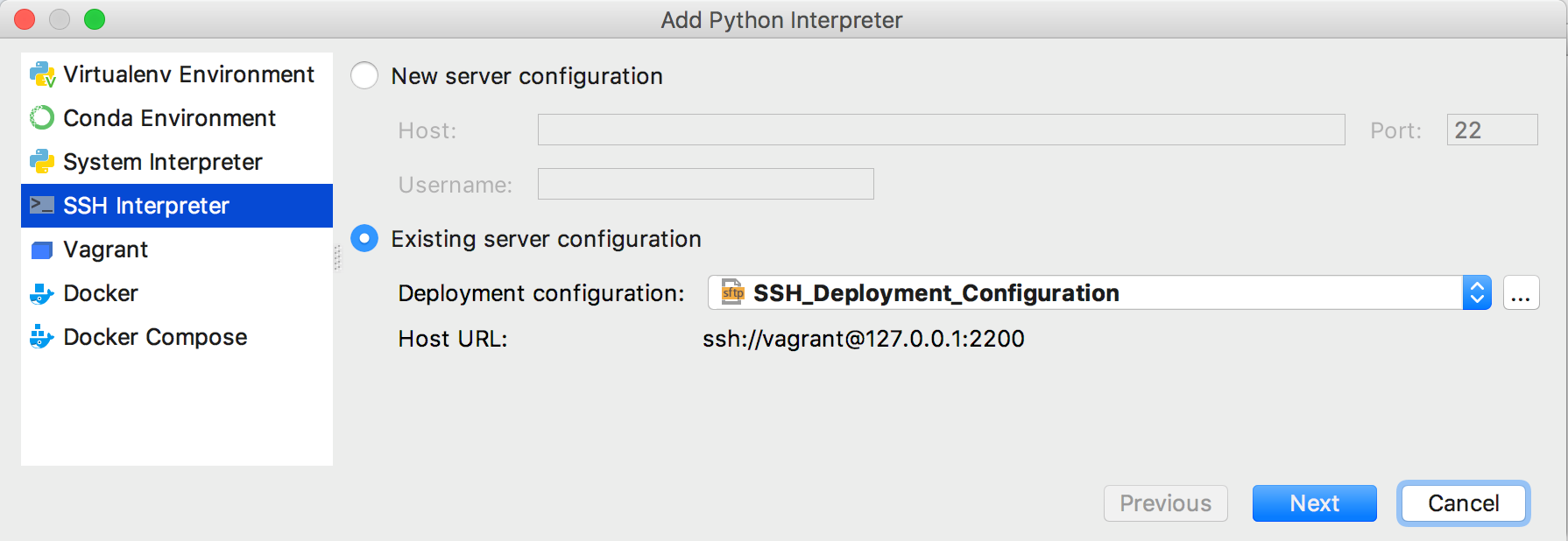 py existing ssh configuration