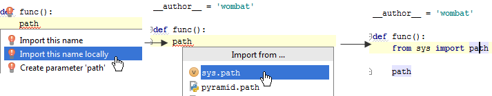 py import locally