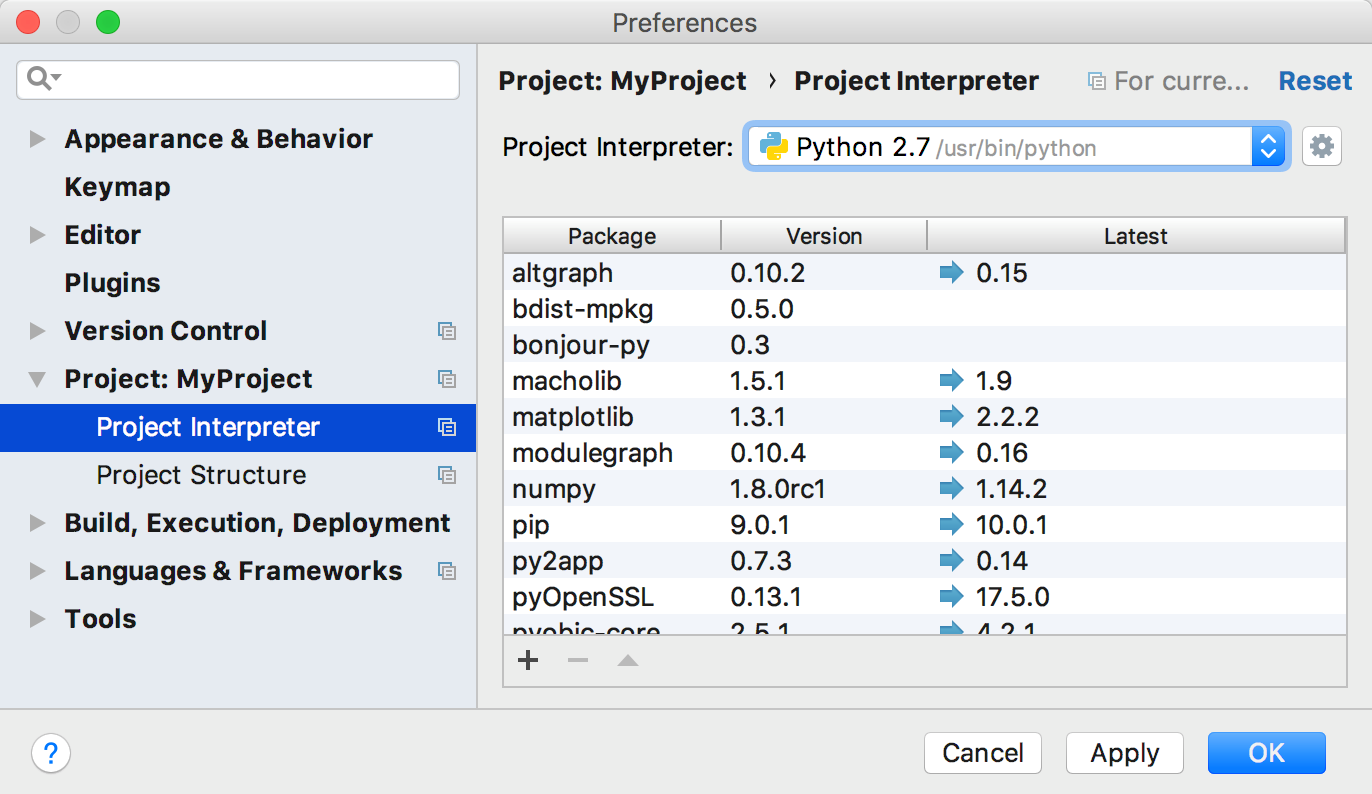 Installing a Python package