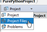 py scopes in project tool window