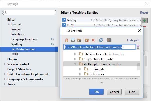 py textmatebundles import