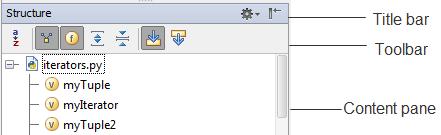 py tool window layout
