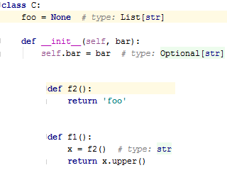 py type hinting attributes