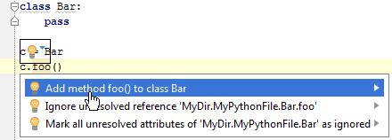 python createFromUsage