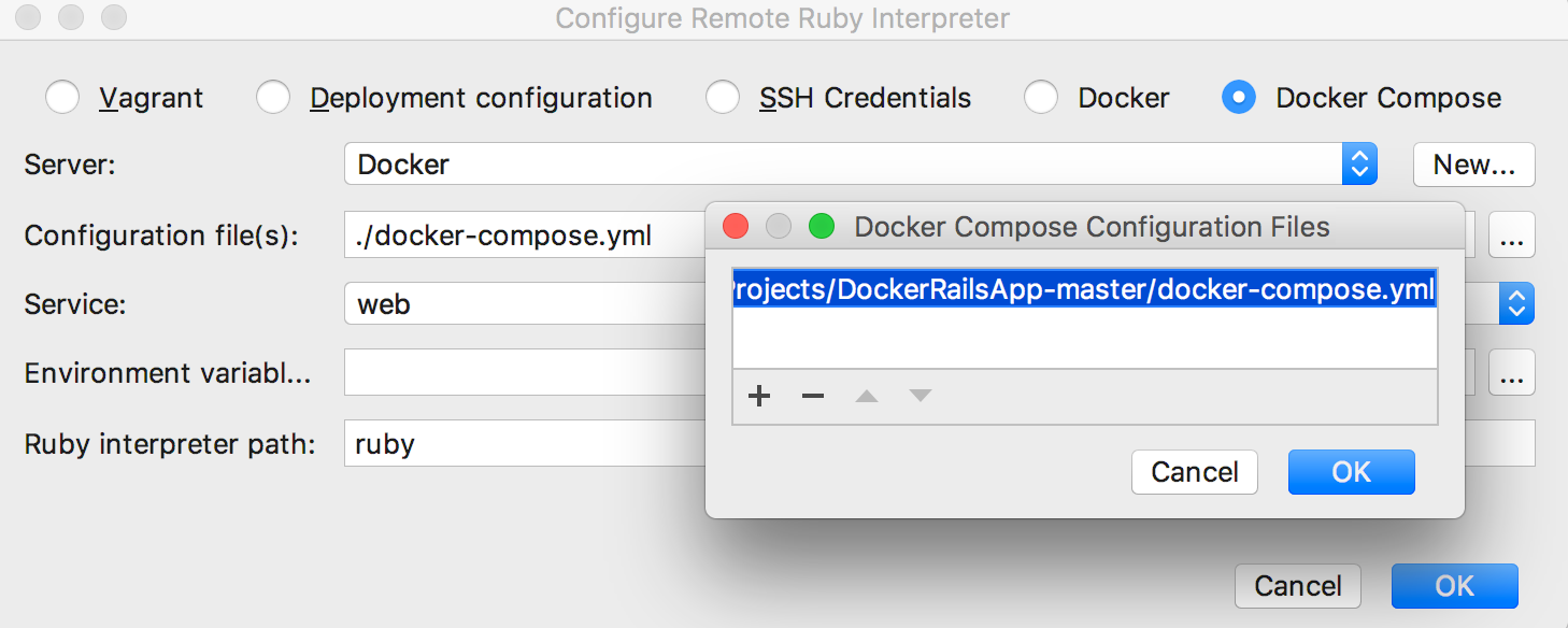 rm choose docker compose 1