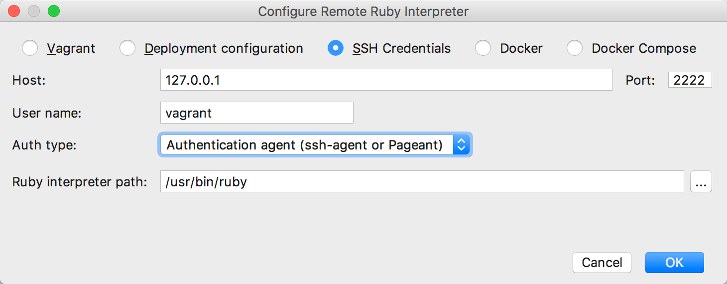 rm configure remote interpreter