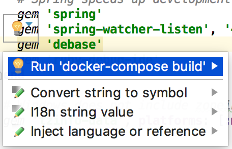 rm docker build intention