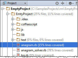 ruby projectToolWindowStatisticPerFile