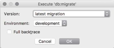 ruby runMigration