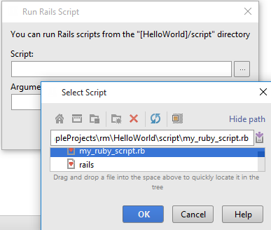 ruby runRailsScript