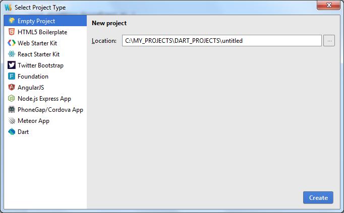 ws createProject