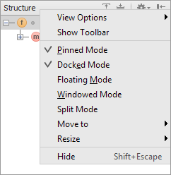 ws ps tool window viewing modes
