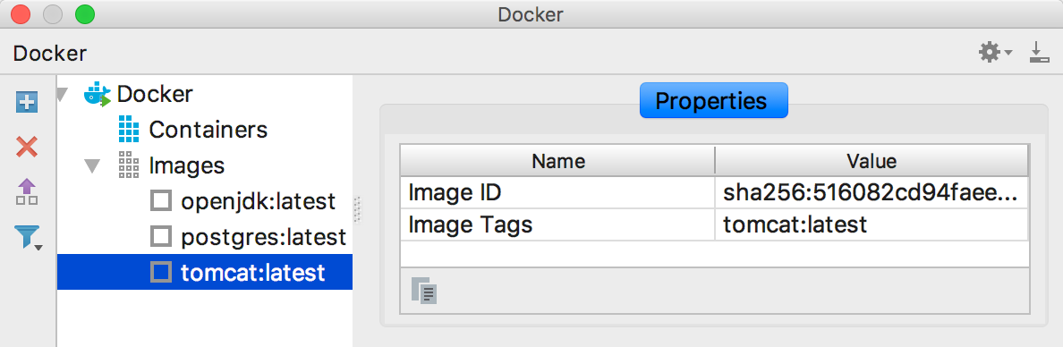 Docker image properties