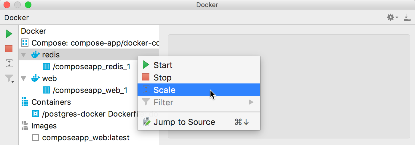 The Scale context menu item