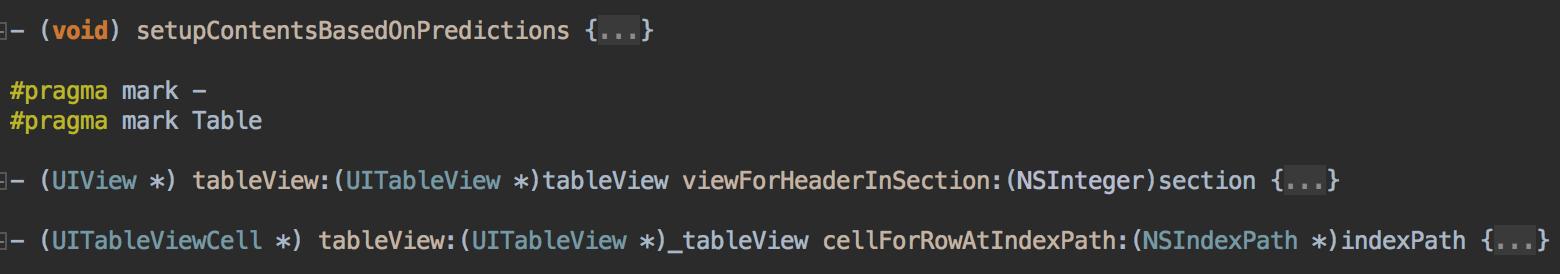 AppCode CodeFolding1