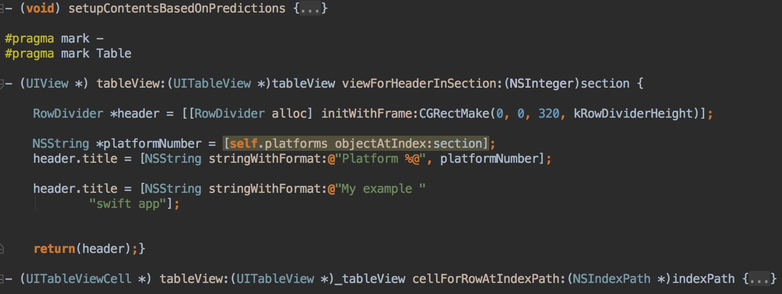 AppCode CodeFolding2