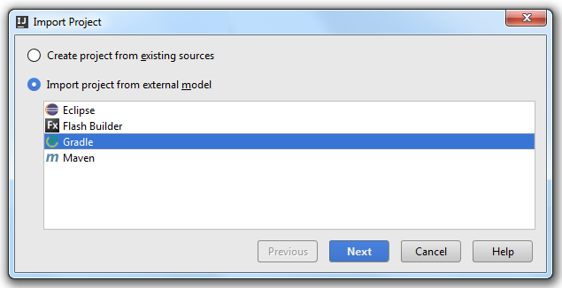 Import Android Gradle Project step2