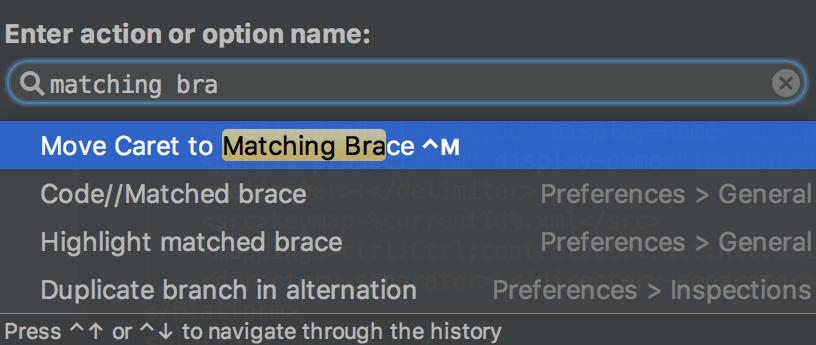 ac matchingBraces