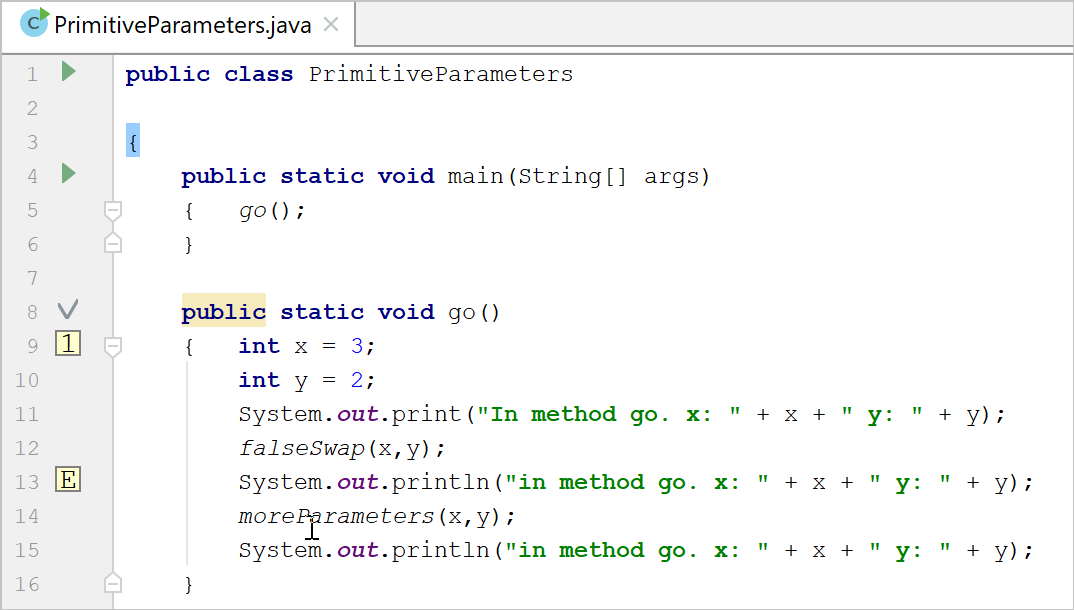Navigating With Bookmarks Help Intellij Idea