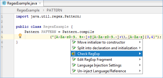 Regular Expression Syntax Reference Help Intellij Idea