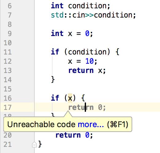 cl dead code