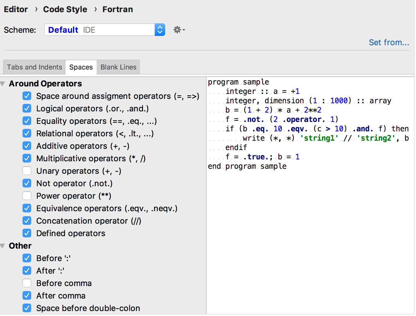 Code styles for Fortran