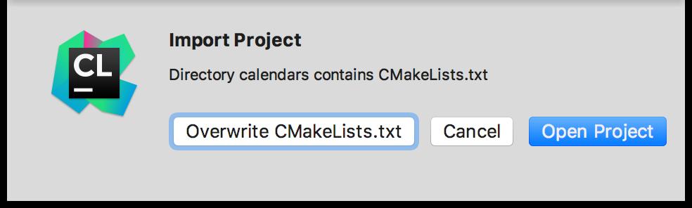 cl overwriteCMakeLists