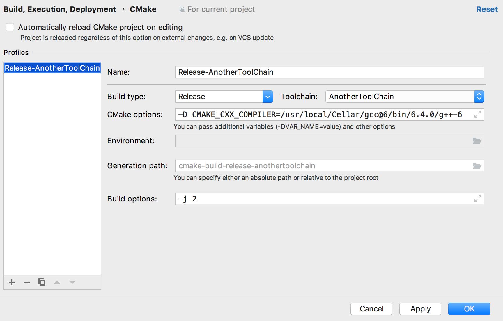 cl selectCompilerCMake