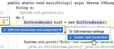 disableInspectionInEditor