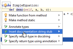 docstring example 2