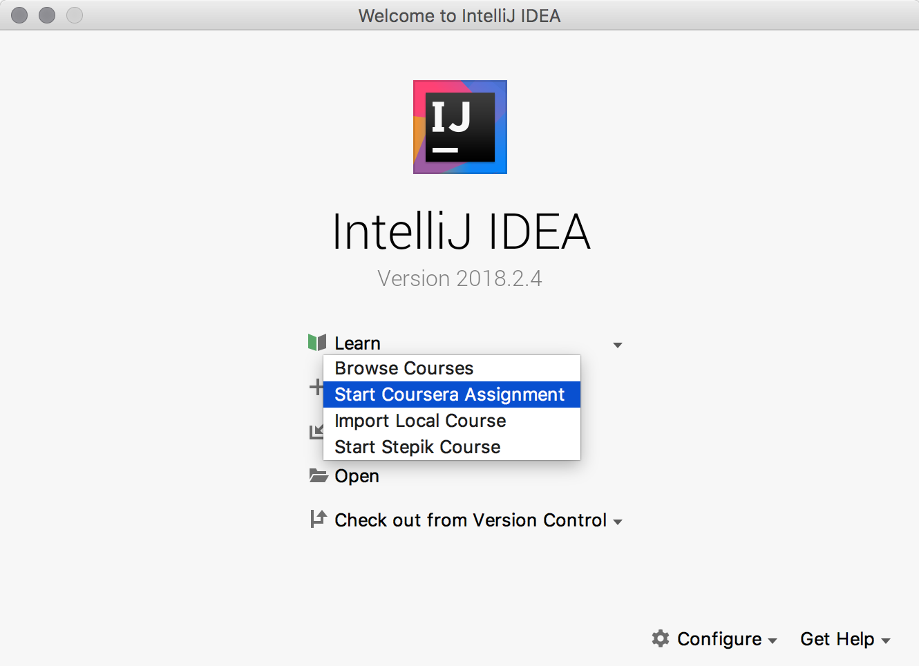 Coursera assignments in IntelliJ IDEA