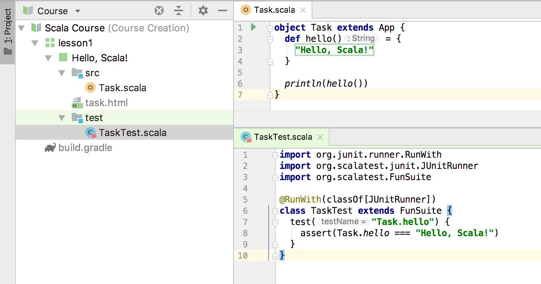 edu test code scala