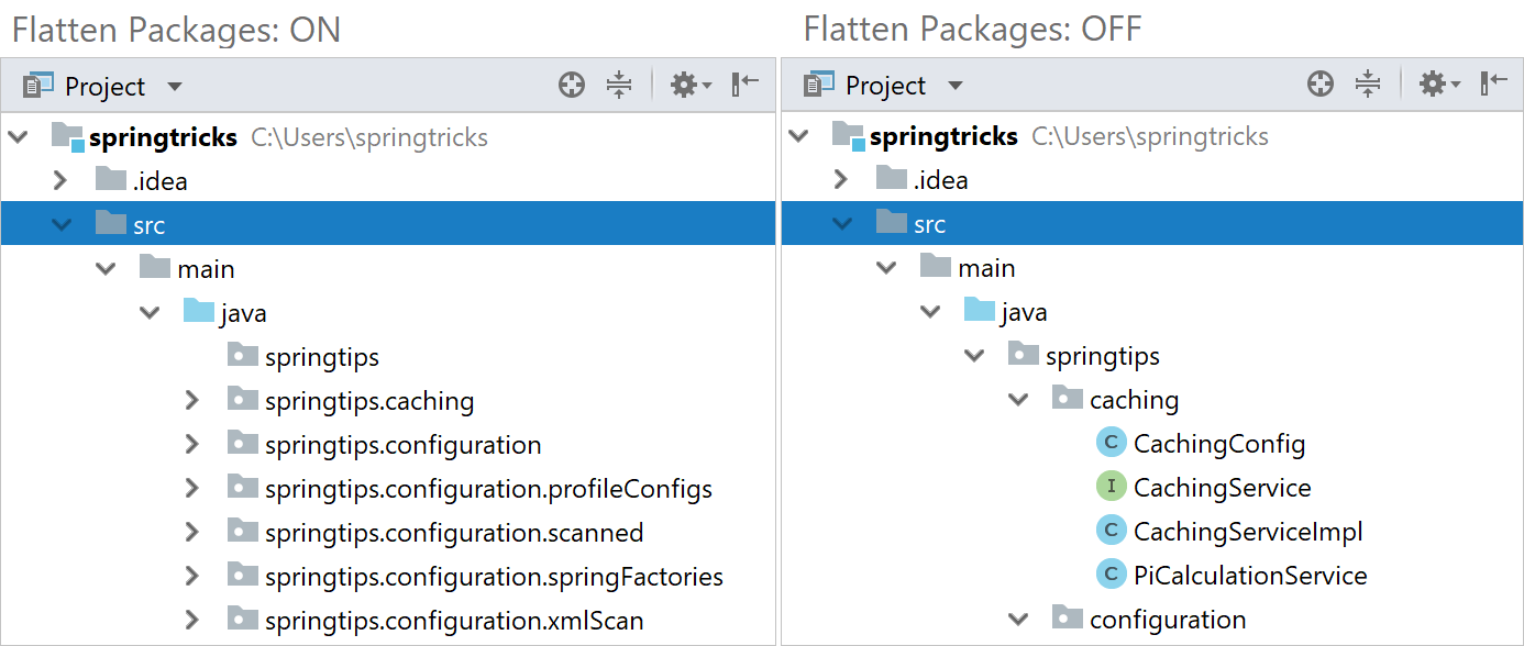 flatten packages