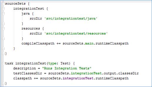 gradle integration tests