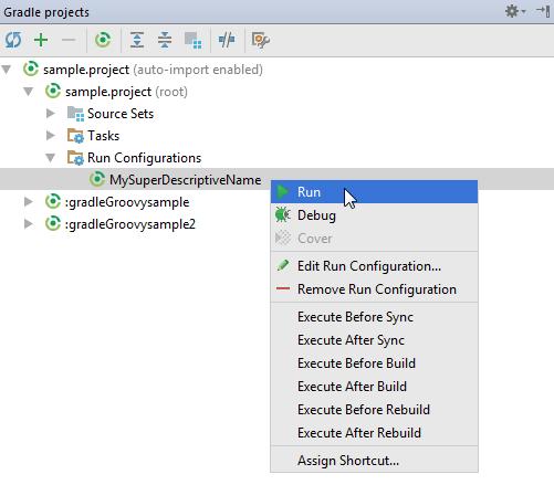 gradle run configuration