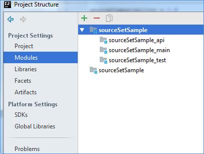 gradle source sets project structure