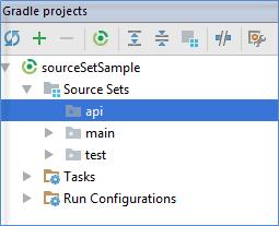 gradle source sets tool window
