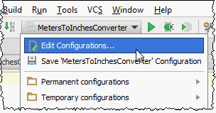 Choosing IntelliJ IDEA run/debug configurations