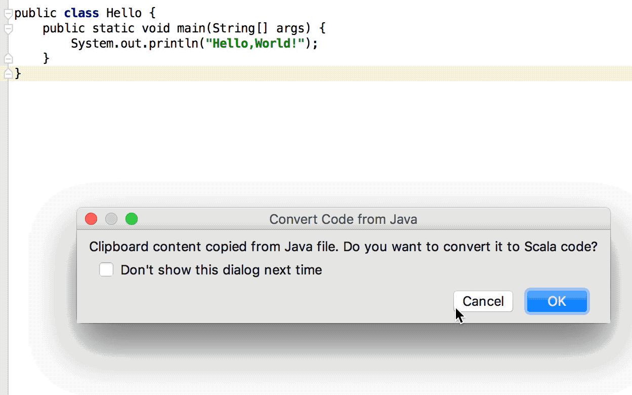 Work with Scala code in the editor - Help   IntelliJ IDEA