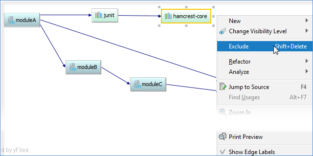 maven exclude diagram
