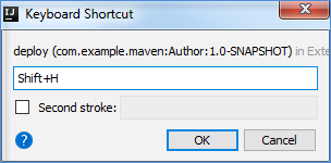 maven keyboard shortcut dialog