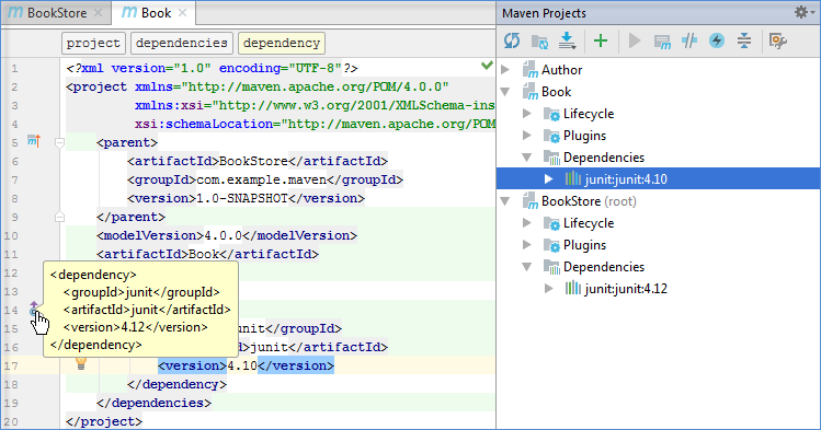 maven version overwrite